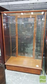 Sale 8375 - Lot 1053 - Vintage Timber Display Cabinet with three glass shelves