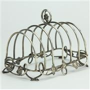 Sale 8372 - Lot 54 - English Hallmarked Sterling Silver Toast Rack