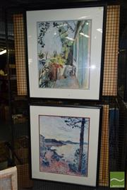 Sale 8509 - Lot 2083 - Pair of Henri Matisse Decorative Prints (framed/various sizes)