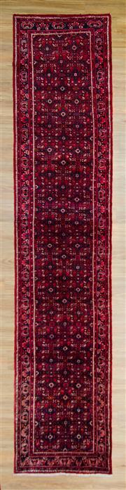Sale 8576C - Lot 52 - Persian Husseinabad Runner 393cm x 95cm