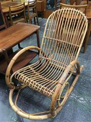 Sale 8643 - Lot 1040 - Cane Rocking Chair