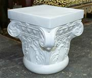 Sale 8746 - Lot 1002 - Two ceramic column capital side tables