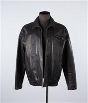 Sale 8770F - Lot 61 - A Cole Haan black leather jacket, size large