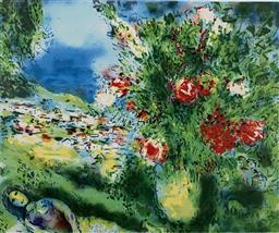 Sale 9108A - Lot 5024 - Marc Chagall (1887 - 1985) - Paysage 46 x 56 cm (sheet)