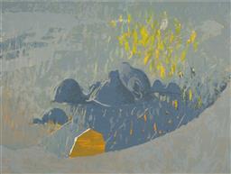 Sale 9139 - Lot 2012 - LAWRENCE DAWS (1927 - ) - Untitled, 1998 45 x 60 cm (frame: 68 x 82 x 3 cm)