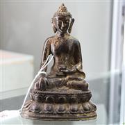 Sale 8306 - Lot 58 - Gilt Bronze Figure of Buddha Shayamuni