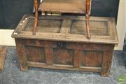 Sale 8440 - Lot 1017 - 17th/ 18th Century Oak Trunk