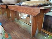 Sale 8469 - Lot 1033 - Pair of Pine Benches