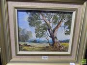 Sale 8513 - Lot 2068 - Landscape The Old One ACT, verso signed Nan Rogers