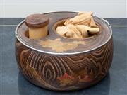 Sale 8562A - Lot 30 - Japanese tobacco bowl set, Taisho period, D 20cm