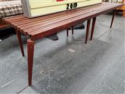 Sale 8684 - Lot 1059 - Vintage Slat Top Extending Coffee table