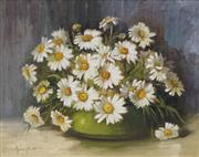 Sale 8704A - Lot 5008 - Muriel Annie Elliot (1898 - ?) - Still Life - Daisies 29.5 x 37cm