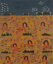 Sale 8718 - Lot 517 - Lucky Morton Kngwarreye (c1952 - ) - Untitled (Olden Times), 1999 acrylic on linen