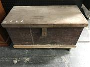 Sale 8822 - Lot 1293 - Timber Trunk with Wood Working Tools