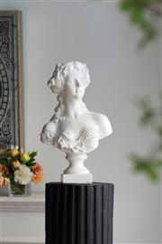 Sale 9075T - Lot 33 - A Large magnesium classical bust of a female .H: 54x W: 26x D:23