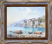 Sale 8408 - Lot 582 - Henry Bowser Wimbush (1858 - 1943) - Italian Seaside 47 x 58cm