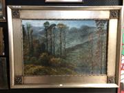 Sale 8807 - Lot 2079 - American School oil painting