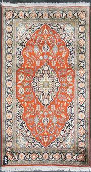 Sale 8817 - Lot 1064 - Kashmiri Silk Rug (157 x 93cm)