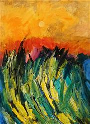 Sale 8938 - Lot 512 - Palla Jeroff (1957 - ) - Fire Sunset 60 x 45 cm