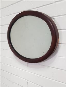 Sale 9157 - Lot 1056 - Victorian mahogany framed mirror (49 x 39cm)