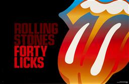 Sale 9212A - Lot 5092 - ROLLING STONES: FORTY LICKS World Tour 2002 - 2003 poster 56 x 86 cm (frame: 64 x 95 cm) Published by RST Concerts Inc, USA