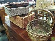 Sale 8495F - Lot 1070 - Collection of Eight Various Wicker Baskets