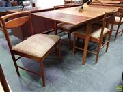 Sale 8607 - Lot 1039 - Teak Draw Leaf Table & Set of Six Macintosh Chairs (Table H: 75 L: 154 Extended W: 76cm)