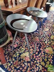 Sale 8554 - Lot 1046 - Pair of Modern Italian Barstools