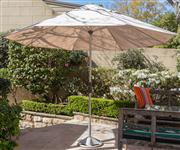 Sale 8595A - Lot 88 - A large standing weatherproof umbrella, Diameter when open 280cm