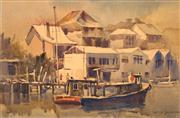 Sale 8657A - Lot 5003 - Robert Lovett (1930 - ) - Waterfront Birchgrove 29 x 43.5cm (frame: 50 x 63.5cm)