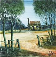 Sale 8732 - Lot 527 - Kevin Charles (Pro) Hart (1928 - 2006) - The Old Cottage 19 x 19cm