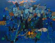 Sale 8773 - Lot 555 - Louis James (1920 - 1996) - Hello Dawn (3) 1987 100 x 126.5cm