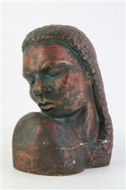 Sale 8818 - Lot 51 - A Patinered Plaster Sculpture Ngarla By Arnold Calder F.R.S.A ( H 22cm)