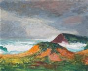 Sale 8892 - Lot 540 - Roland Wakelin (1887 - 1971) - On The Shore 24 x 30.5 cm