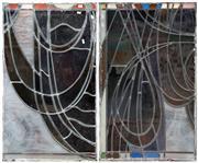 Sale 8889 - Lot 1024 - Pair of Vintage Leadlight Panels