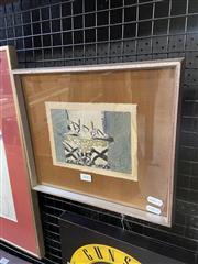 Sale 9041 - Lot 2041 - Thomas Gleghorn, Stone Henge, 1970, mixed media on paper, frame: 28 x 32cm, lower right