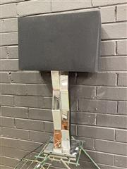 Sale 9051 - Lot 1030 - Mirrored Table Lamp (h:72cm)