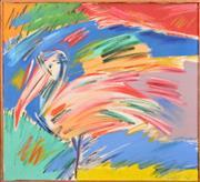 Sale 8301A - Lot 82 - Annette Lodge (c1955 - ) - Pelican Promenade, 1982 62 x 67cm