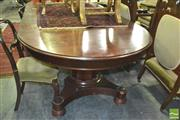 Sale 8352 - Lot 1093 - Circular Extension Dining Table (3 Leaves)
