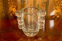 Sale 8392H - Lot 49 - A Daum Nancy Modernist glass vase, H 20cm