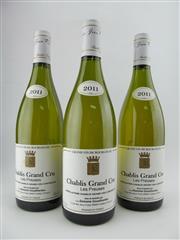 Sale 8411 - Lot 683 - 3x 2011 Domaine Gouailhardou Les Preuses Grand Cru, Chablis