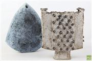 Sale 8473 - Lot 11 - Australian Studio Pottery Vases By Works by Hicks and Annette Dojohn
