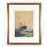 Sale 8545N - Lot 182 - John Alcott  T.S.S. Euripides watercolour (29cm x 21cm)