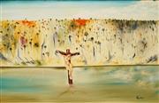 Sale 8675A - Lot 5018 - Allan Goddard (1950 - 2018) - The Crucifixion 59.5 x 90cm