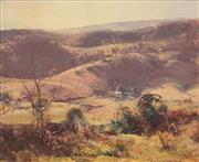 Sale 8675 - Lot 509 - Robert Simpson (1955 - ) - Morning Light, Gilmore Valley near Tumut, 1985 37 x 46.5cm
