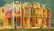 Sale 8692 - Lot 504 - Cedric Emanuel Flower (1920 - 2000) - Terrace Houses 21.5 x 36.5cm