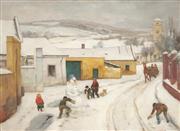 Sale 8870A - Lot 581 - Franz Windhager (1879 - 1959) - Winter Scene 50.5 x 69.5 cm