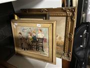 Sale 8878 - Lot 2098 - Three Original Paintings, Children Playing (2); Australian Landscape