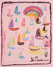 Sale 8924 - Lot 2013 - Yosi Messiah (1964 - ) Untitled, 2020 mixed media on paper (unframed) 65x50cm, signed -