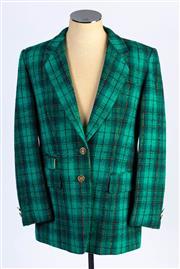 Sale 8926H - Lot 52 - A BASLER green tartan blazer in wool, size 42